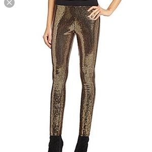 09c10120bc777 Gianni Bini Pants | Gold Sequin Leggings Nwt Size Small | Poshmark